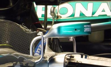 Gp Austria: novità sulla Mercedes W08
