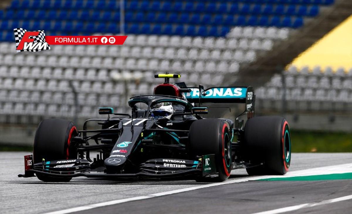 Gp Austria, qualifiche: Bottas pole da record, Hamilton secondo, disastro Ferrari