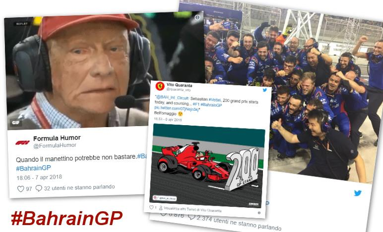 Gp Bahrain 2018 - Il week-end visto dai social network