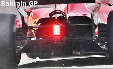 Gp Bahrain: Ferrari con cofano extra large e muso bucato sulla vettura di Raikkonen