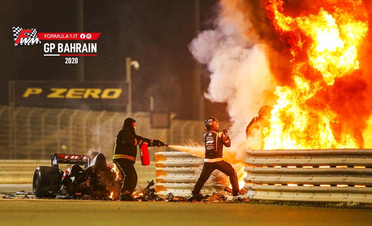 GP Bahrain: Hamilton domina, Grosjean miracolato tra le fiamme