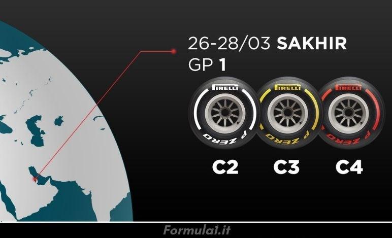 Gp Bahrain - Pirelli sceglie un range di mescole medie