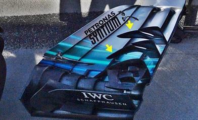 GP BELGIO - MERCEDES W09: nuova ala anteriore e Power Unit EVO da +15 cv