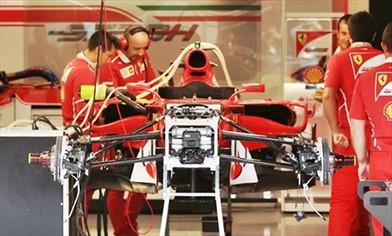 Gp Belgio: modificata l'ala anteriore e la meccanica della Ferrari SF70H