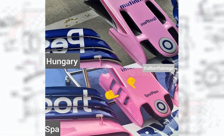 Gp Belgio - Nuovo musetto per la Racing Point
