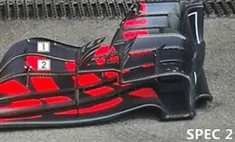 GP BELGIO - REDBULL RB14: sono due le specifiche di ala anteriore, una è per Monza?