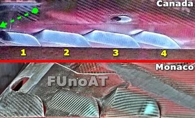 Gp Canada: è nuovo il fondo della Ferrari SF70H