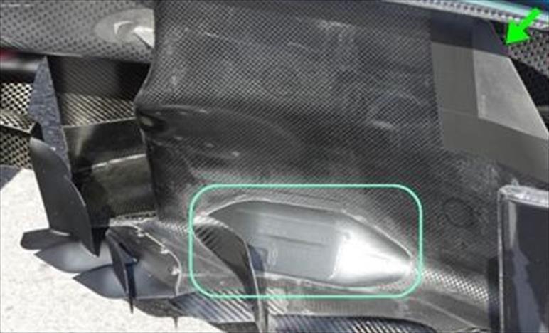 GP CANADA - MERCEDES W09: novità ai bargeboard e alla parte esterna del diffusore