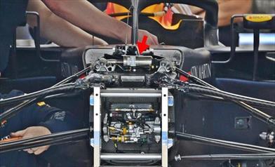 GP CANADA - REDBULL RB14: si rivede il terzo elemento completamente idraulico
