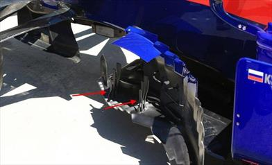 GP CANADA - TORO ROSSO STR14: due novità aerodinamiche sulla STR14