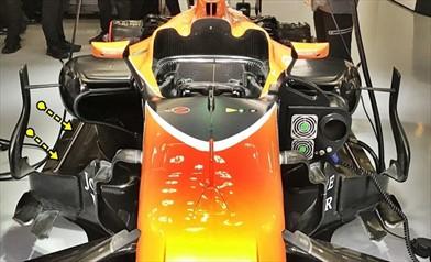 GP CINA: la Mclaren di Alonso ha una soffiatura sul fondo