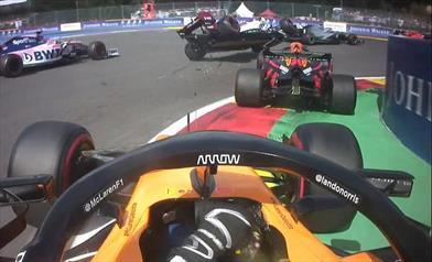 Gp del Belgio: la gara di Verstappen termina alla prima curva, Albon quinto partendo dal fondo
