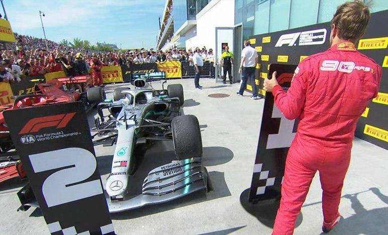 Gp del Canada:Vettel secondo e arrabbiato con i commissari