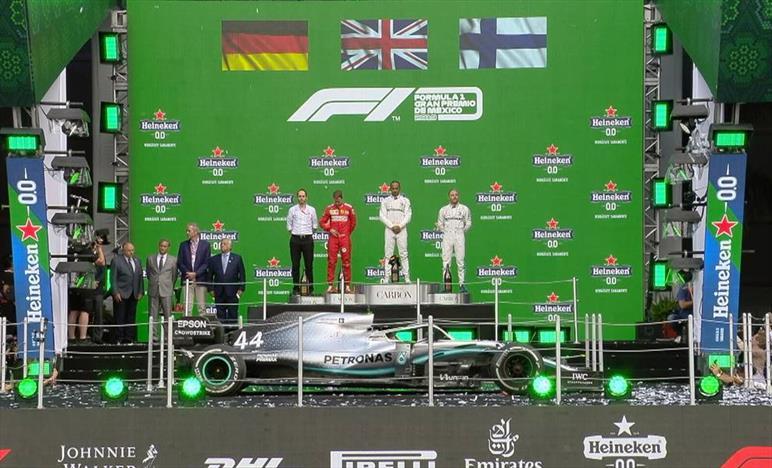 Gp del Messico: Vince Hamilton, davanti a Vettel e Bottas
