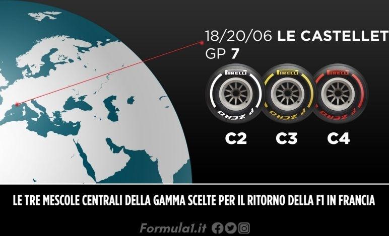 Gp Francia - Pirelli sceglie un range di mescole medie