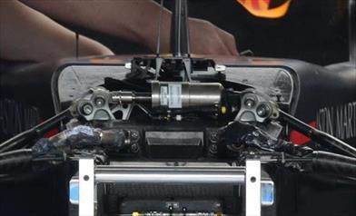 GP FRANCIA - REDBULL RB14: torna il terzo elemento anteriore meccanico (a molla)