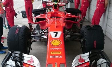 Gp Giappone: Ferrari conferma le novità e monta l'ala a cucchiaio
