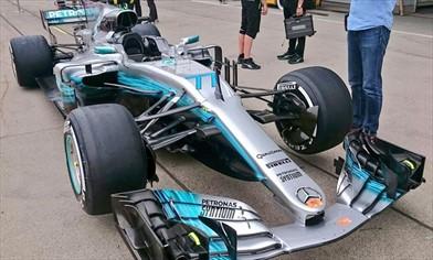 Gp Giappone: Mercedes W08 con il nuovo pacchetto aerodinamico ma, gli ingegneri, sono preoccupati...