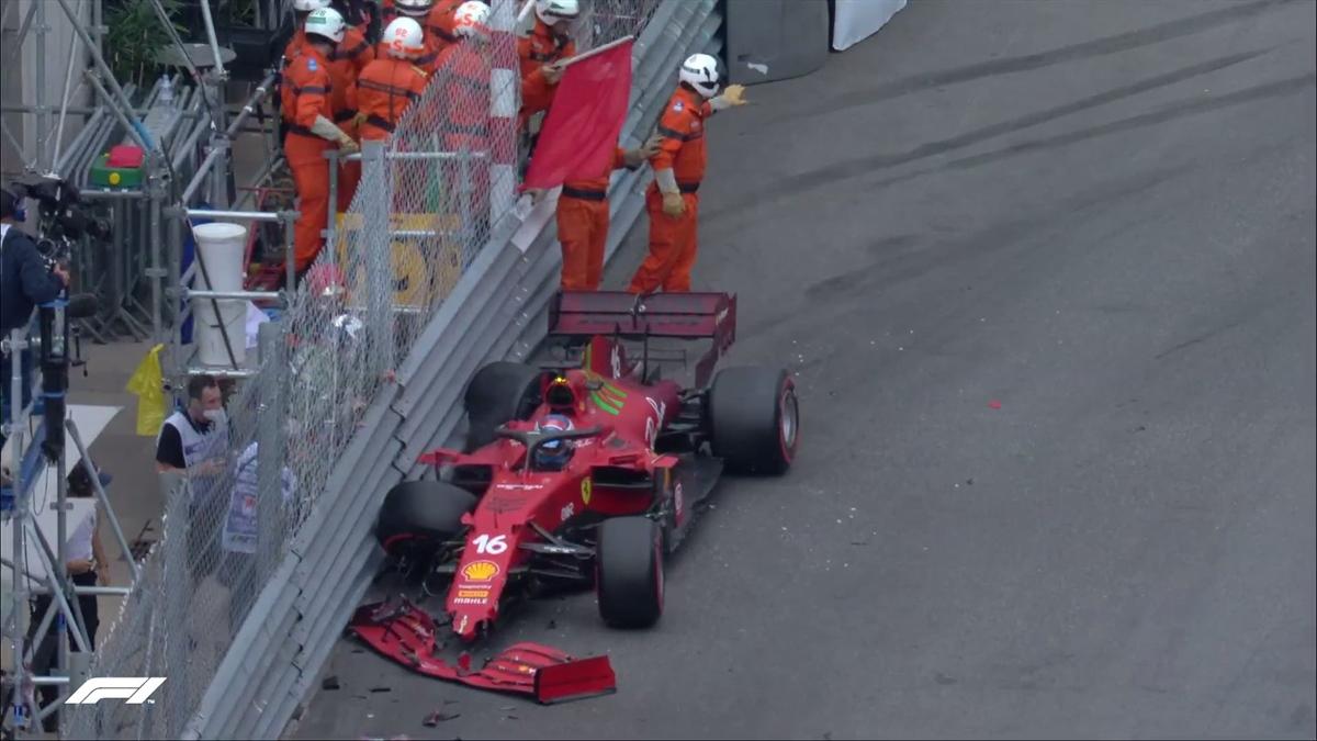 Gp Monaco - E' incredibile pole per Leclerc, ma con incidente