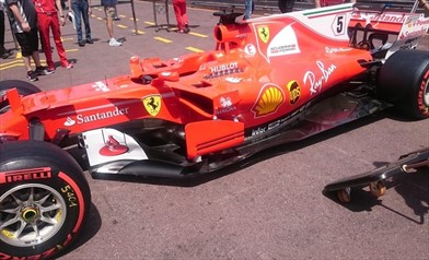 Gp Monaco: Ferrari SF70H con un pacchetto da alto carico
