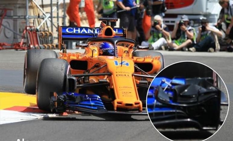 GP MONACO - McLAREN MCL33: Nuova ala anteriore sulla vettura di Alonso