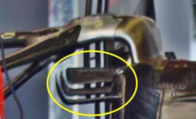 GP SILVERSTONE - FERRARI SF71H: modificate le appendici aerodinamiche interne alle gomme posteriori