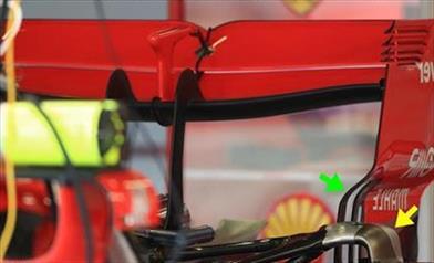 GP SILVERSTONE - FERRARI SF71H: novità sull'ala posteriore a cucchiaio sulla vettura di Vettel - GP SILVERSTONE - FERRARI SF71H: novità sull'ala posteriore a cucchiaio sulla vettura di Vettel