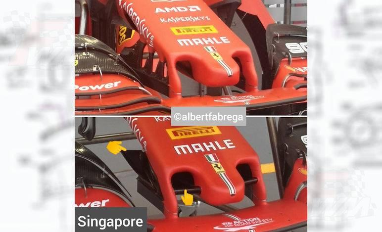 Gp Singapore - Ferrari pacchetto aerodinamico con nuovo musetto e fondo