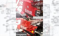 Gp Singapore - Alfa Romeo - Nuovo endplate ala posteriore