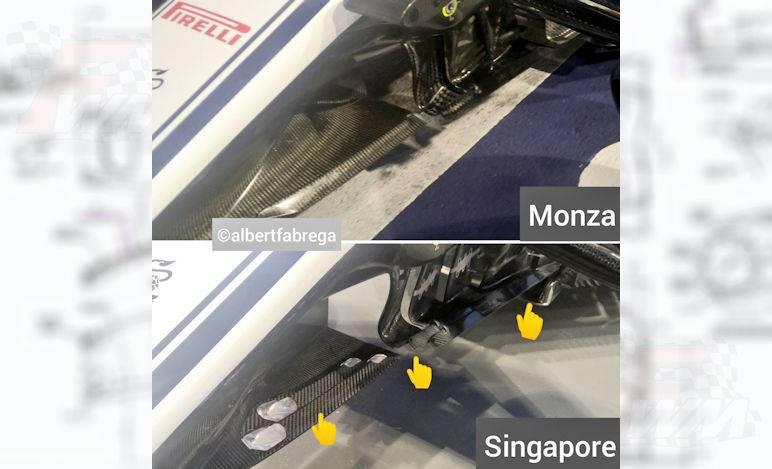 Gp Singapore - Alfa Romeo - Nuovi elementi musetto