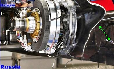 Gp Sochi: la Toro Rosso con le prese dei freni anteriori maggiorate