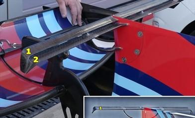 Gp Sochi: la Williams con la T Wing a due profili