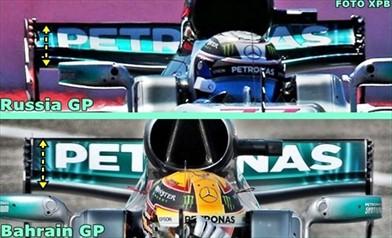 Gp Sochi: Mercedes in pista con un posteriore leggermente modificato