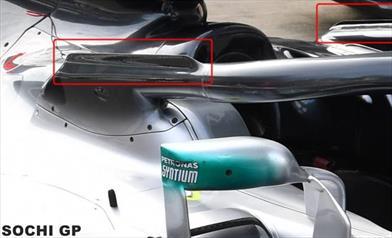 GP SOCHI - MERCEDES W09: c'è una seconda evoluzione dell'aerodinamica sull'Halo