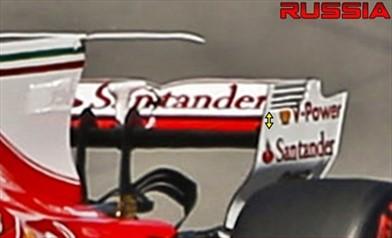 Gp Sochi: sulla Ferrari SF70H un'ala posteriore da minor carico