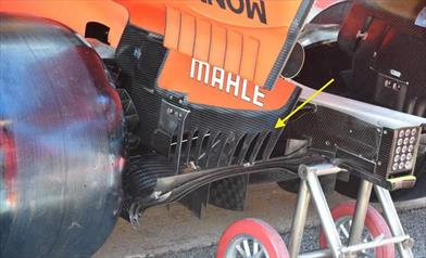 GP SPAGNA - FERRARI SF90: modificata anche la zona inferiore degli endplate dell'ala posteriore