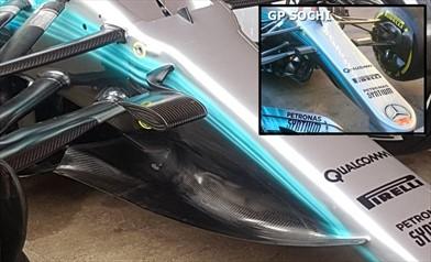 Gp Spagna: Mercedes rivoluziona l'anteriore della W08