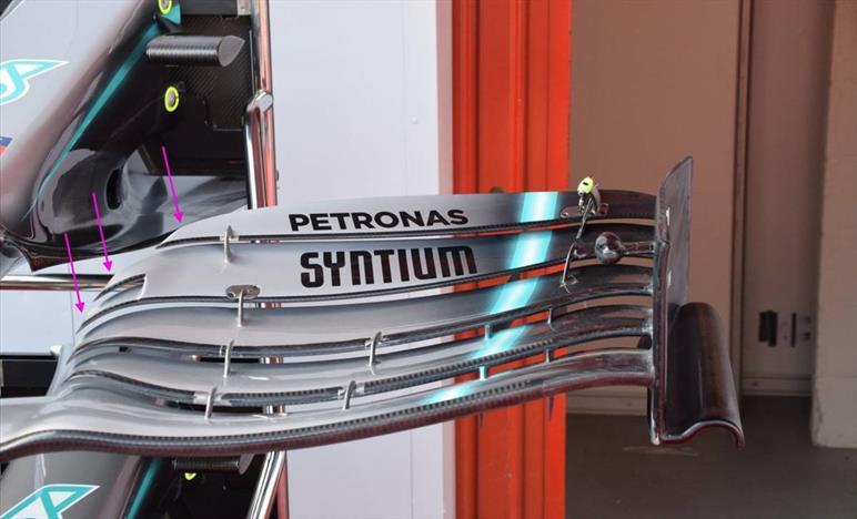 GP SPAGNA - MERCEDES W10: ecco la terza specifica di ala anteriore