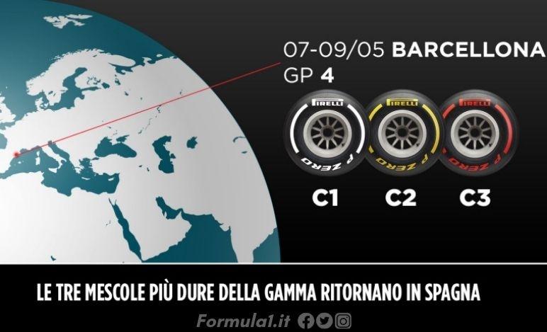 Gp Spagna - Pirelli sceglie ancora le mescole più dure