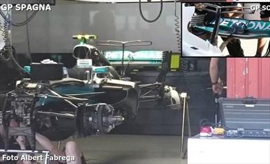 Gp Spagna: una nuova ala posteriore per la Mercedes W08