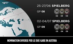 Gp Stiria e Gp Austria - Pirelli sceglie mescole diverse per i due eventi