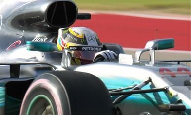 Gp Usa: Hamilton in pole, seconda la Ferrari di Vettel