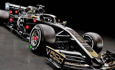 HAAS VF19 - ANALISI TECNICA: passo più lungo, meno rake e scarichi verticali come la Ferrari