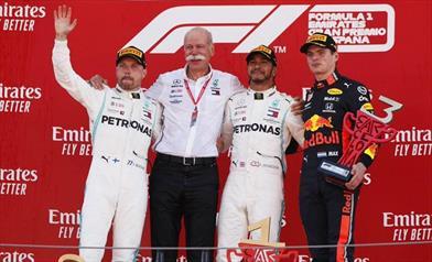 I piloti Mercedes entusiasti per la quinta doppietta stagionale consecutiva