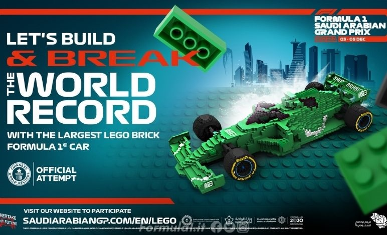 In Arabia Saudita costruita per beneficienza la più grande LEGO di una vettura di Formula 1