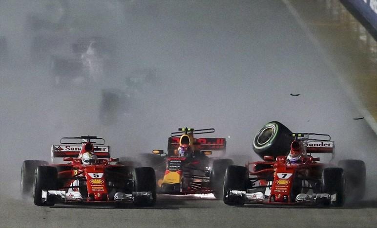 Incoraggiamento di Nibali a Vettel