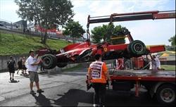 La Ferrari si prepara per una penalità in griglia