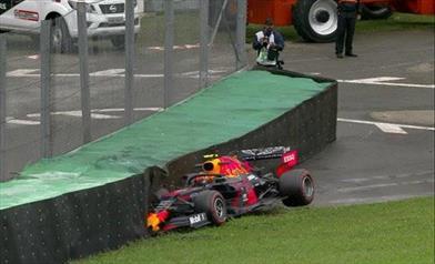PL1 Brasiliane sul bagnato: Albon leader di sessione va a muro nel finale