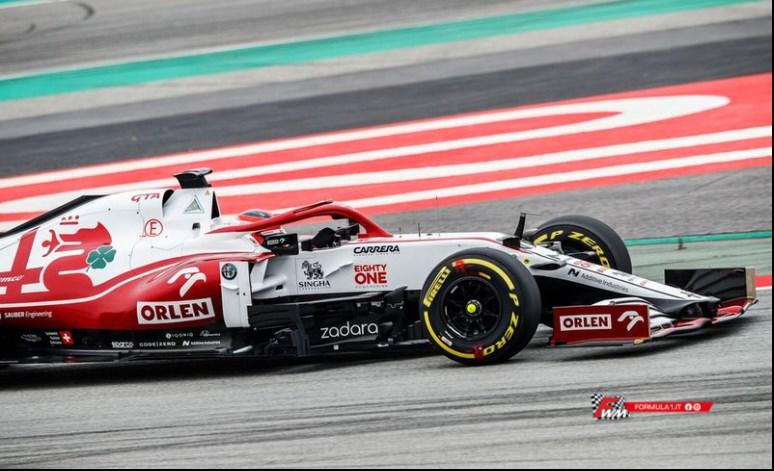 Primi chilometri in pista per l'Alfa Romeo Racing ORLEN C41