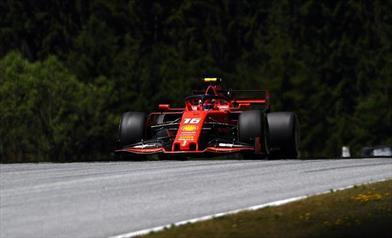 Prove libere Austria: Leclerc chiude in testa nelle FP2, Vettel evita il muro dopo un errore